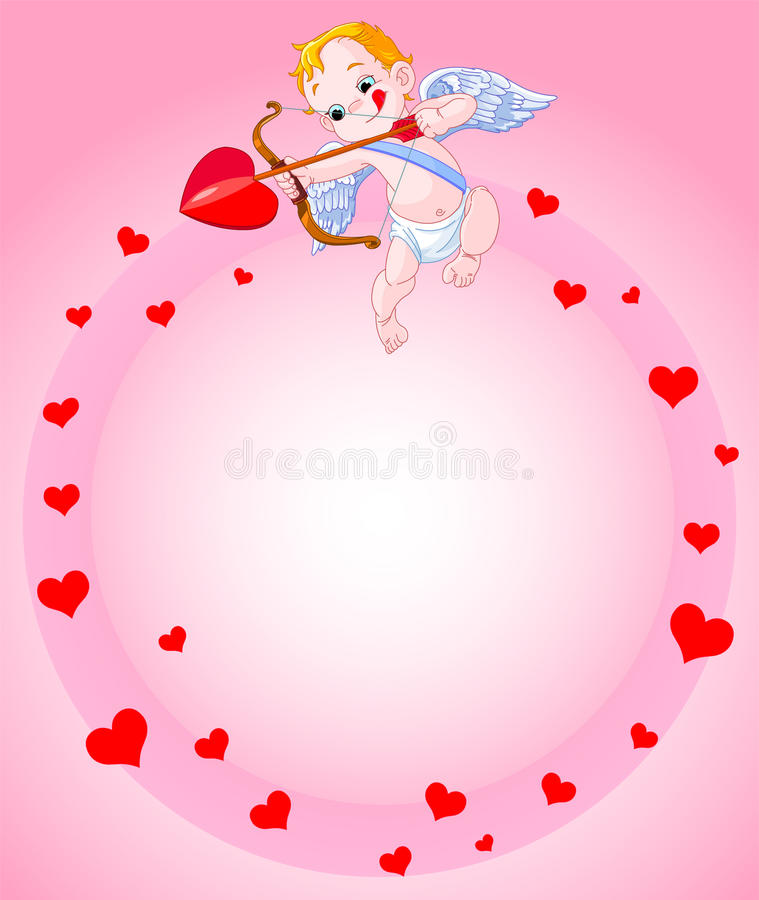 Cupidbakgrund stock illustrationer