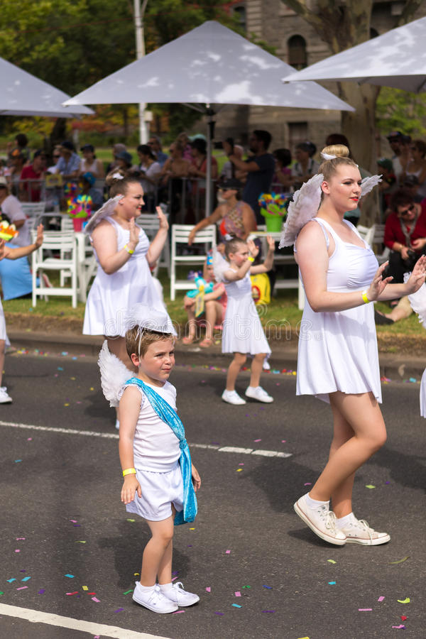 Cupido bij Moomba-Parade 2014 royalty-vrije stock afbeelding