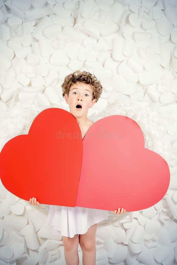 Cupido cansado fotografia de stock