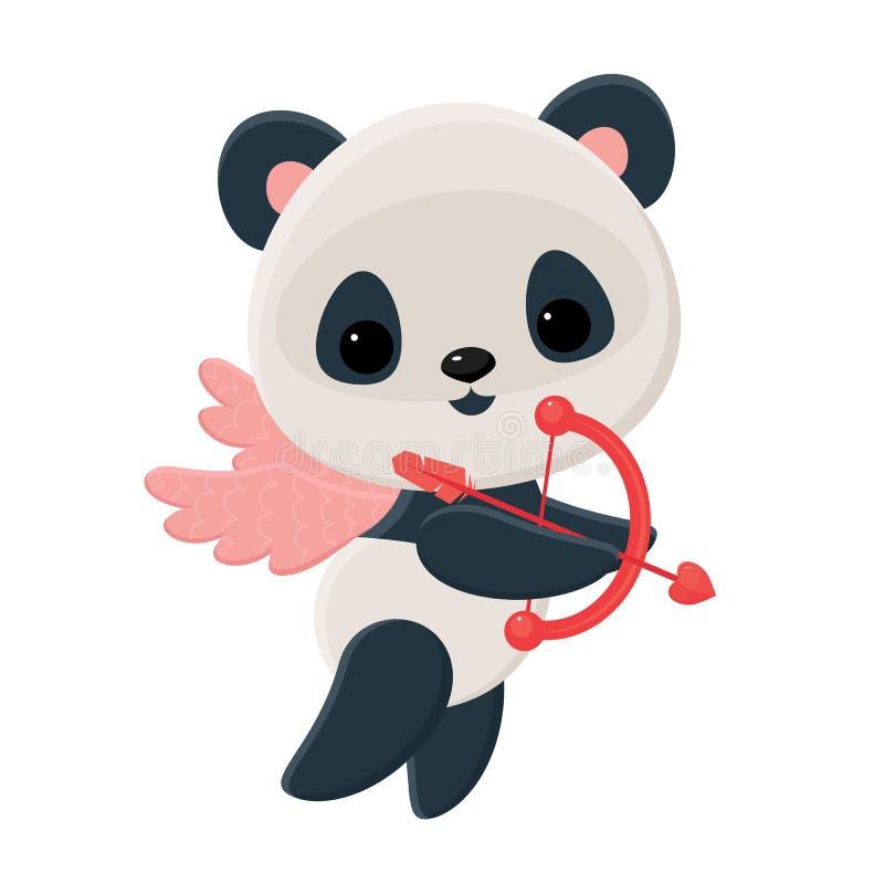 Cupido da panda ilustração royalty free