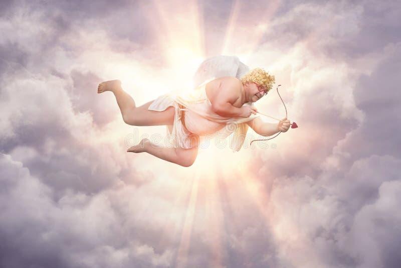 Cupido di peso eccessivo divertente immagini stock