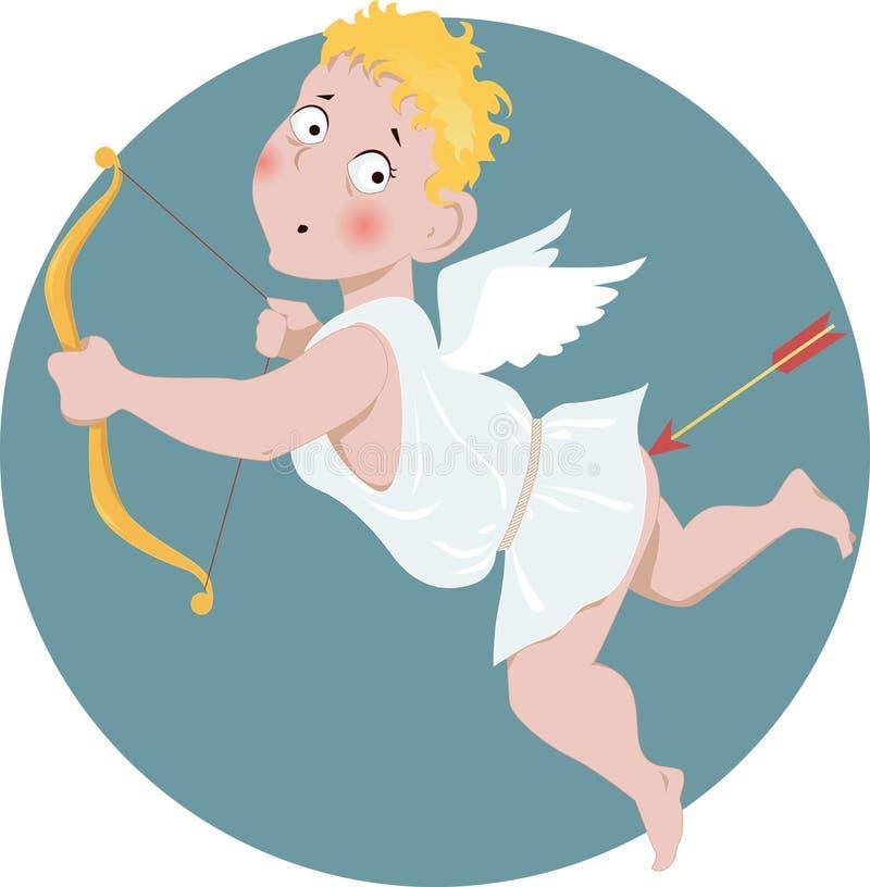 Cupido estúpido ilustração do vetor