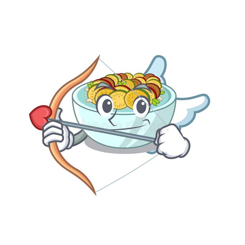 Cupido ratatouille é cozido em mascote ilustração stock