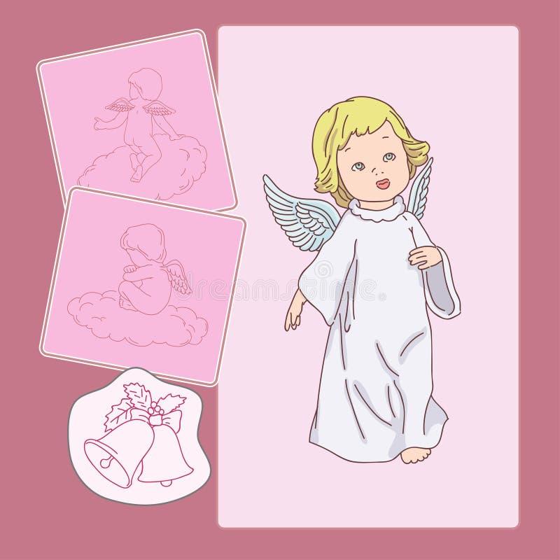 Cupido rosa illustrazione di stock
