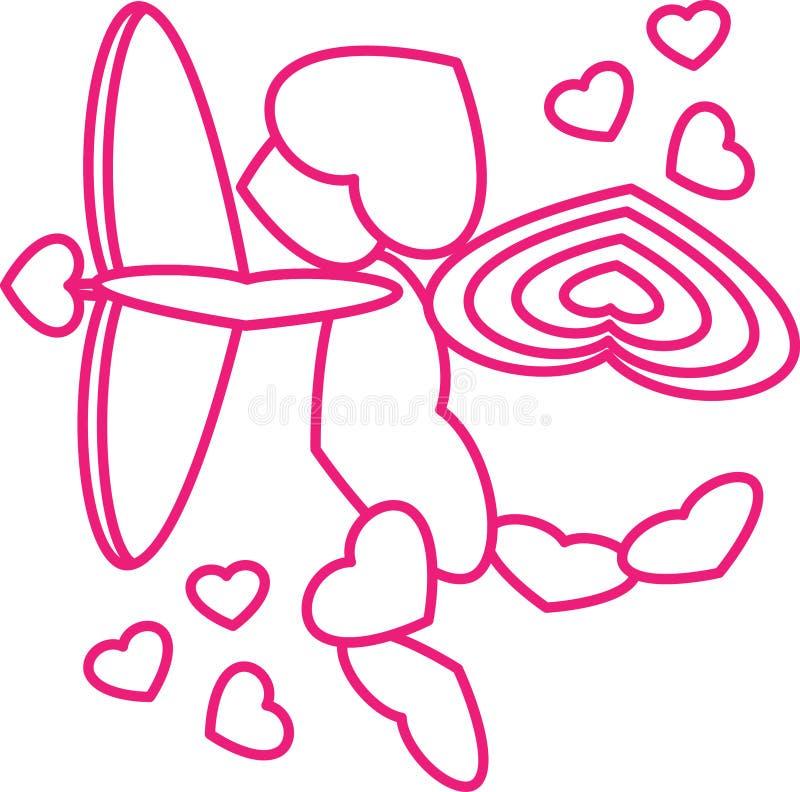 Cupidon complètement de l'AMOUR photographie stock