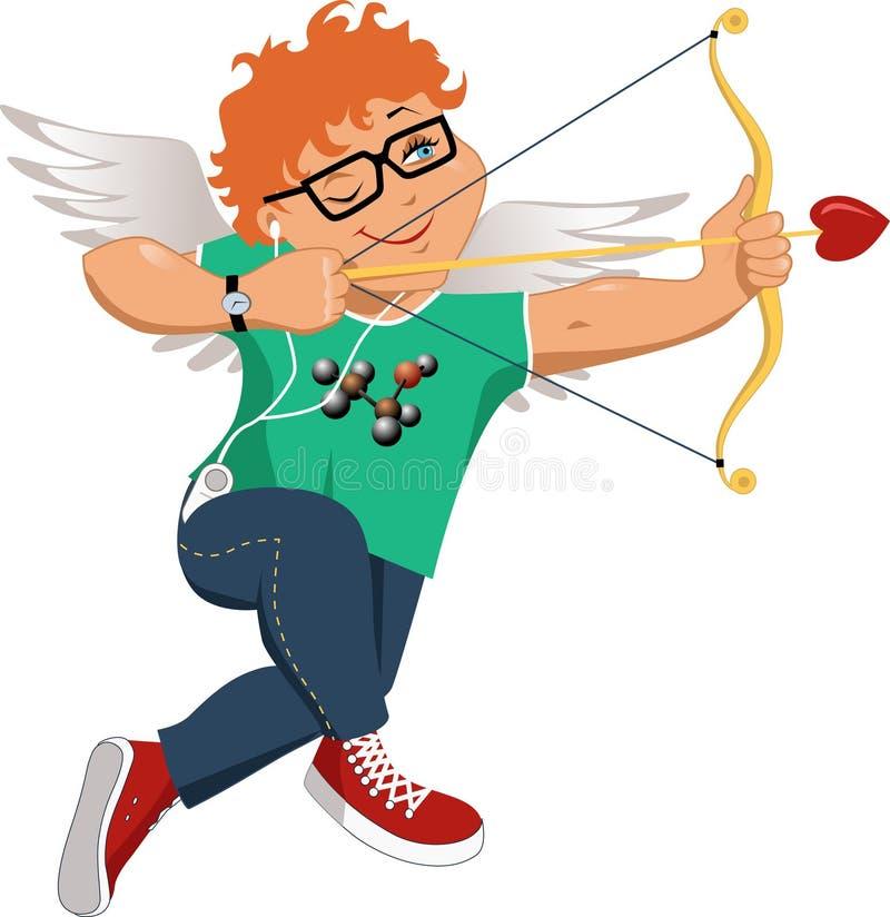 Cupidon de connaisseur illustration stock