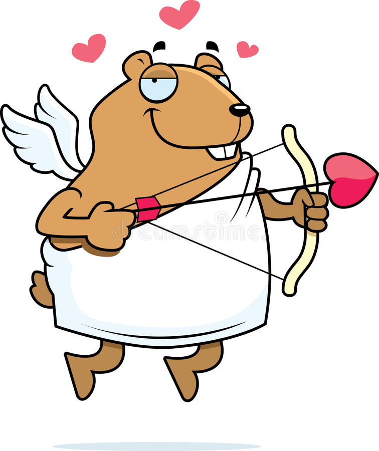 Cupidon de hamster illustration stock
