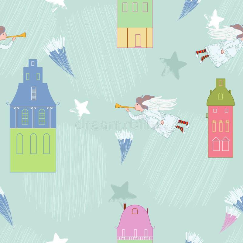 Cupidon en ville illustration stock