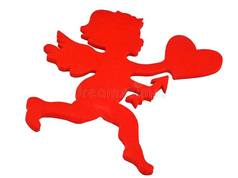 Cupidon rouge illustration libre de droits