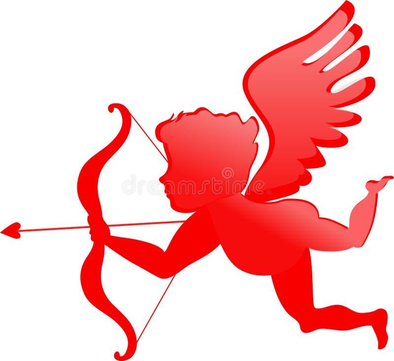 Cupidon rouge illustration de vecteur