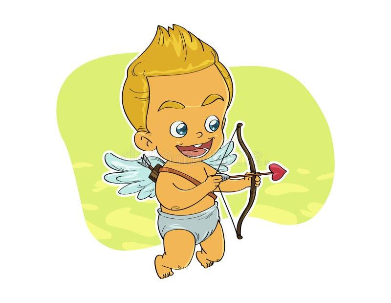 Cupidon visant la cible photos stock