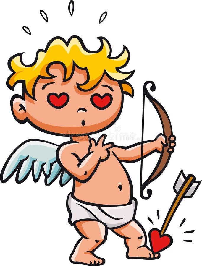 Cupidos pijltje stock afbeelding