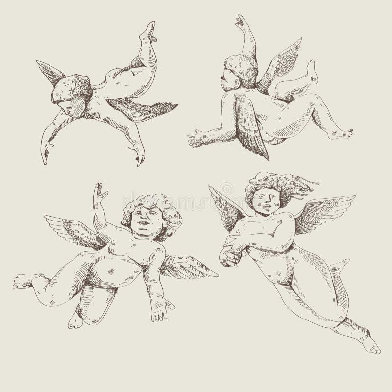 Cupids. Ángeles ilustración del vector