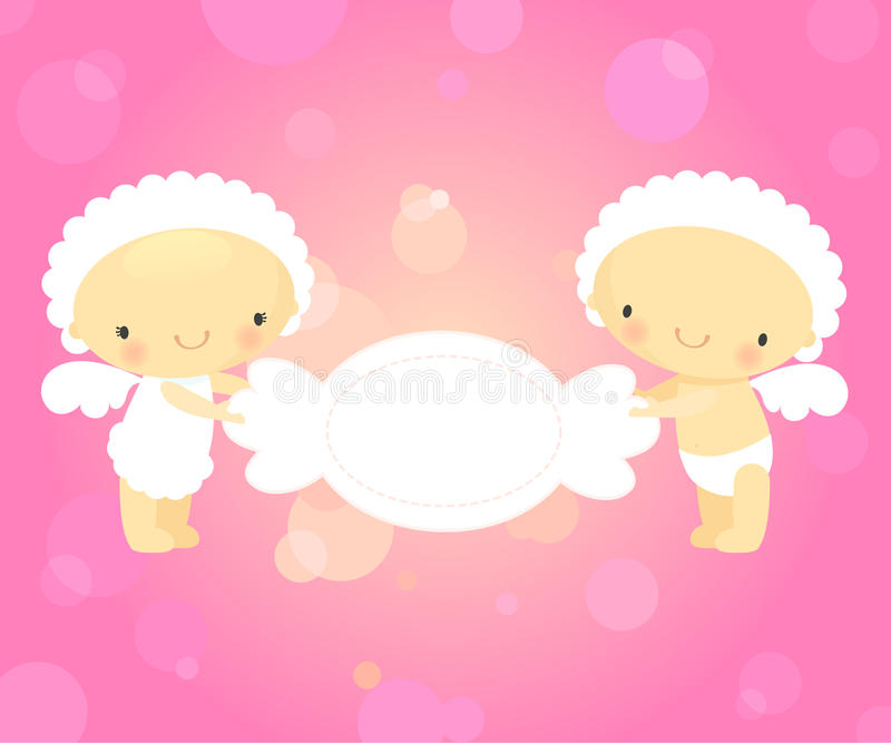 Download Cupids and candy stock vector. Image of cute, pink, male - 12028749