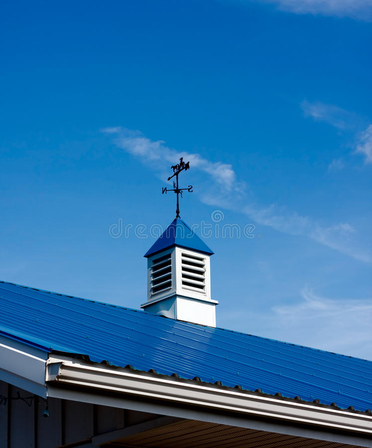 Cupola. Top of the roof with small cupola royalty free stock images