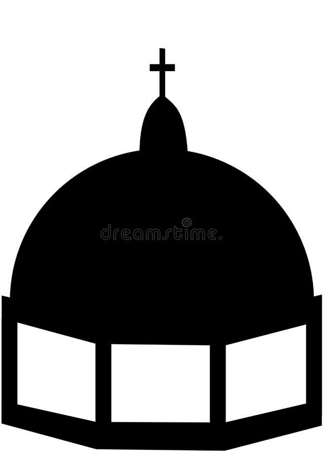 Cupola of a church 1 stock illustration