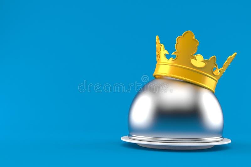 Cupola d'argento di approvvigionamento con la corona illustrazione vettoriale