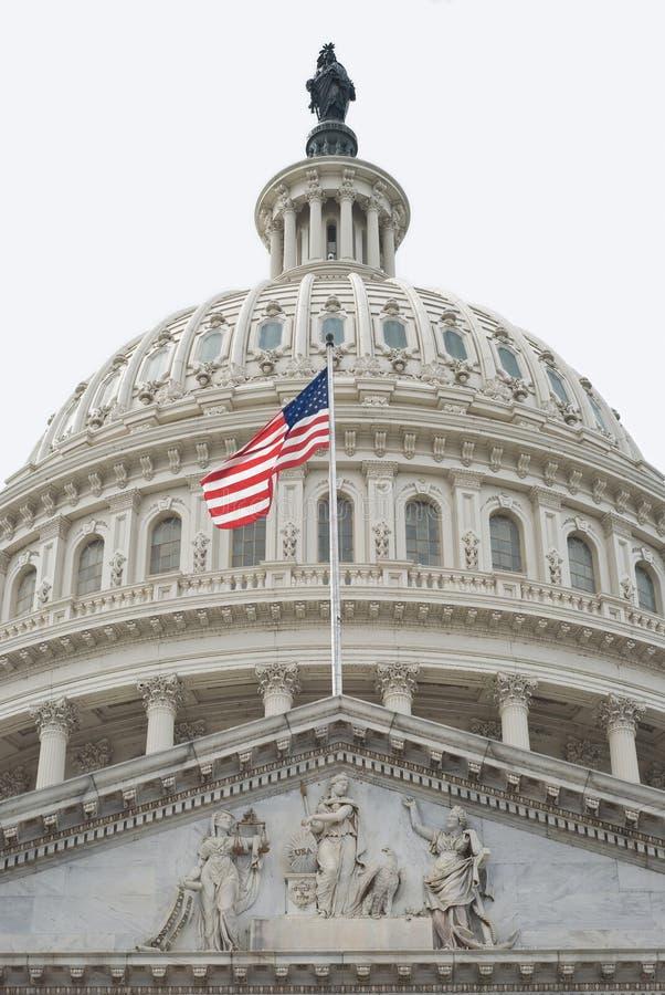 Cupola degli Stati Uniti Campidoglio fotografia stock libera da diritti