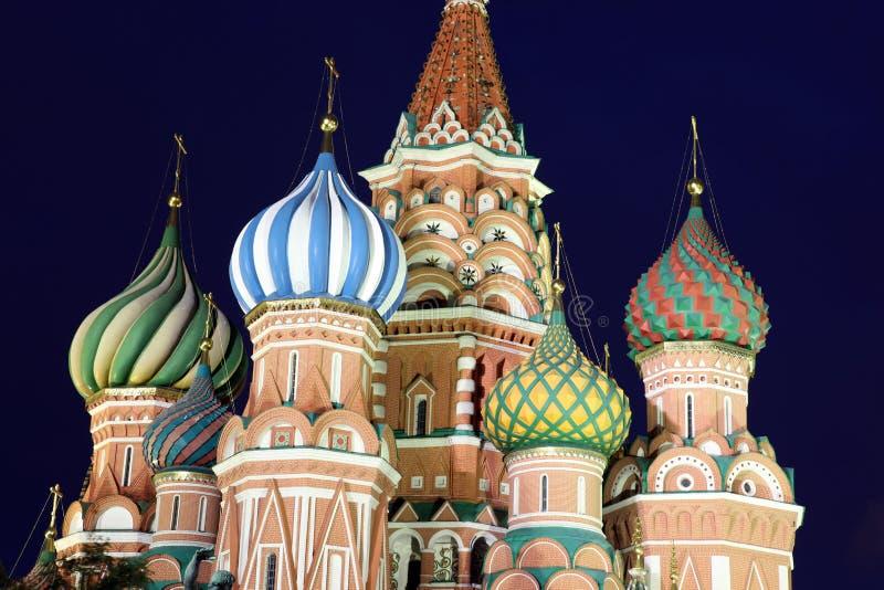 Cupola del basilico della st della cattedrale di intercessione sul quadrato rosso in Mosc immagini stock