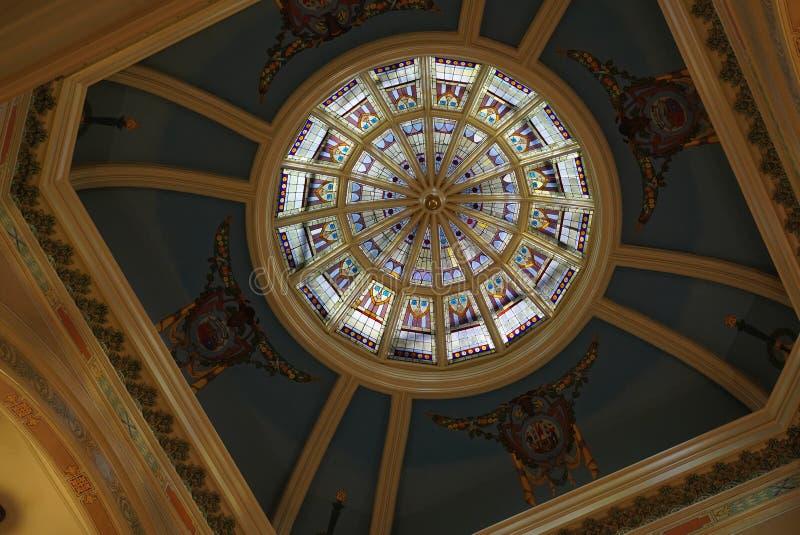 Cupola del Campidoglio dello stato del Wyoming fotografie stock