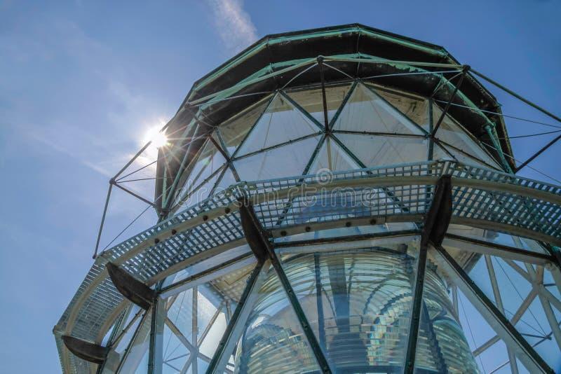 Cupola del faro Hammeren Fyr immagine stock