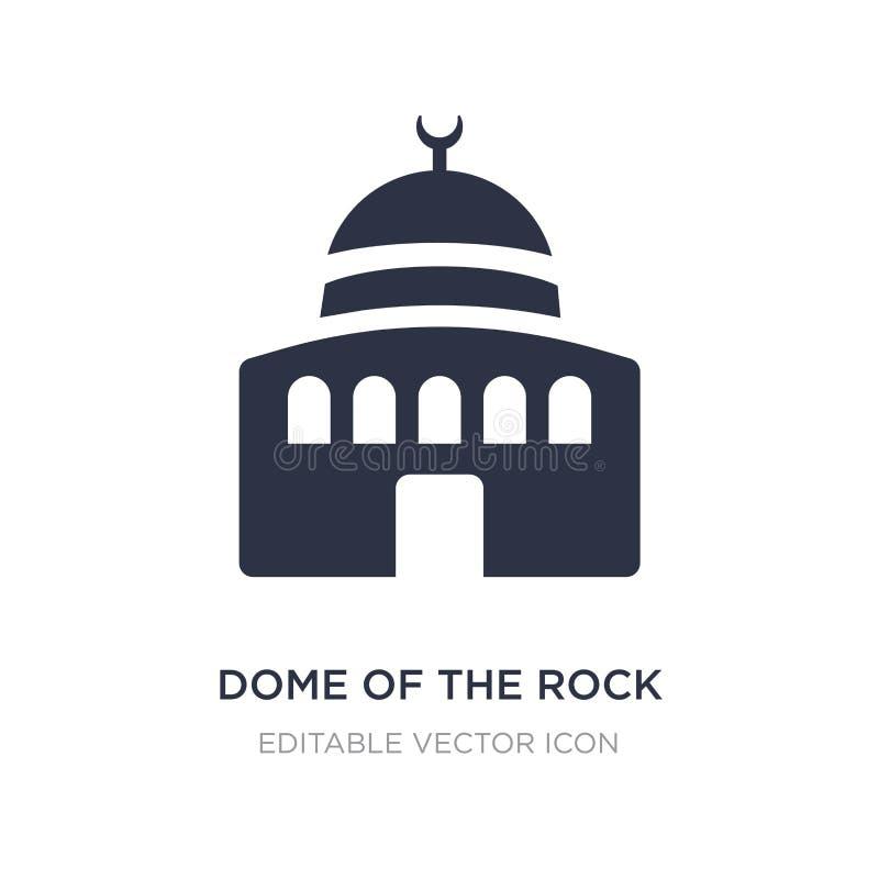 Cupola dell'icona della roccia su fondo bianco Illustrazione semplice dell'elemento dal concetto dei monumenti illustrazione vettoriale