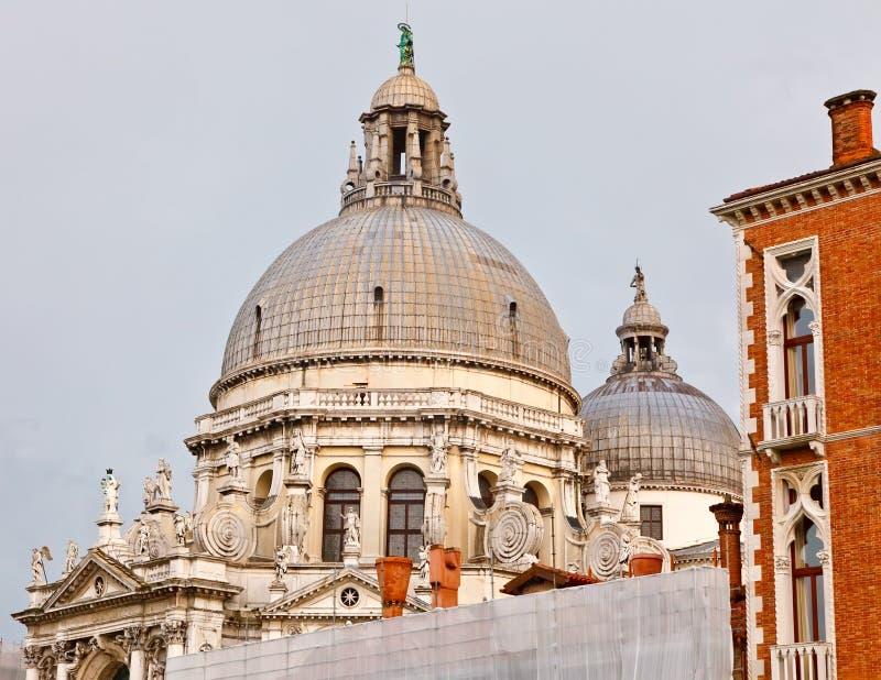 Cupola della basilica del saluto della Santa Maria Della immagine stock libera da diritti
