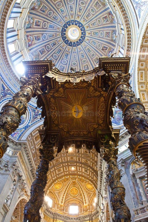 Cupola della basilica della st Peter immagini stock