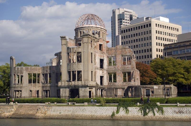 Cupola della bomba atomica, Hiroshima, Giappone fotografie stock libere da diritti