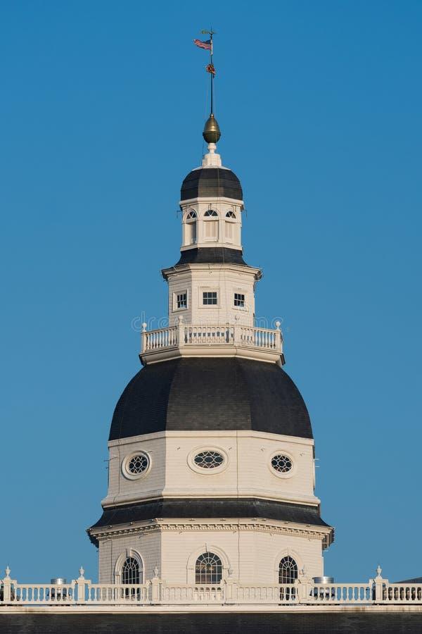 Cupola della Camera dello stato di Maryland fotografie stock libere da diritti