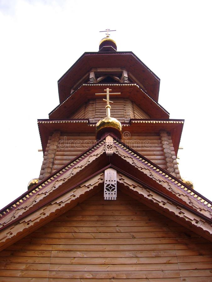 Cupola della chiesa ortodossa con una struttura architettonica religiosa dell'incrocio tradizionale immagine stock