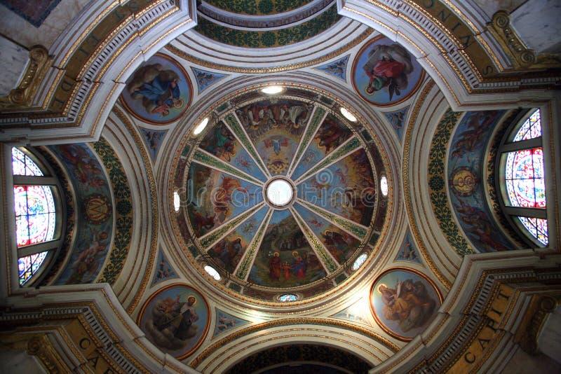 Cupola della chiesa Stella Maris immagini stock libere da diritti
