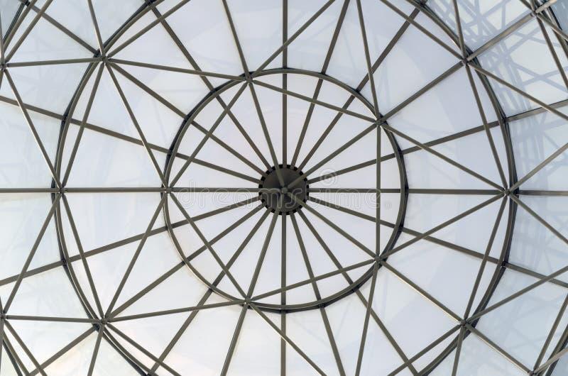 Cupola della finestra di vetro immagine stock
