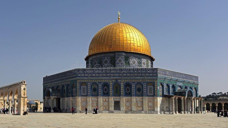 Cupola della roccia, Gerusalemme, Israele fotografie stock libere da diritti