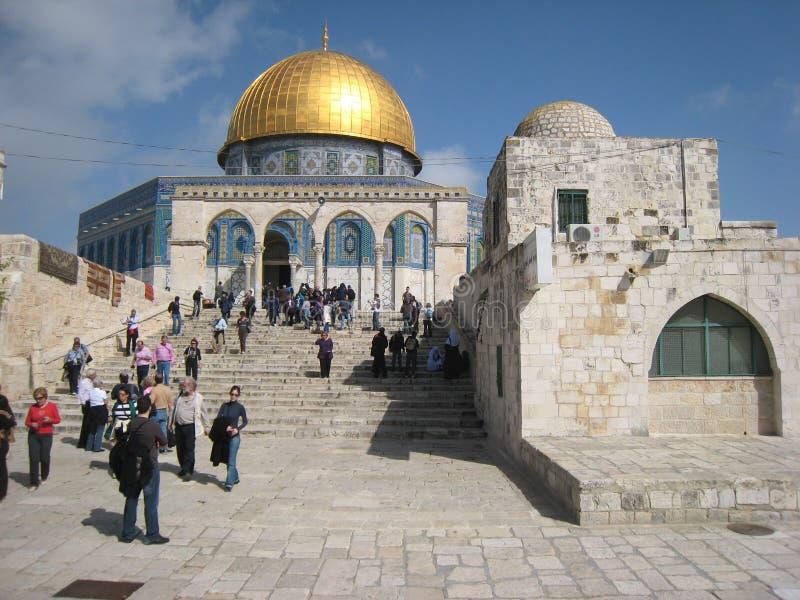 Cupola della roccia. Gerusalemme. L'Israele fotografia stock libera da diritti