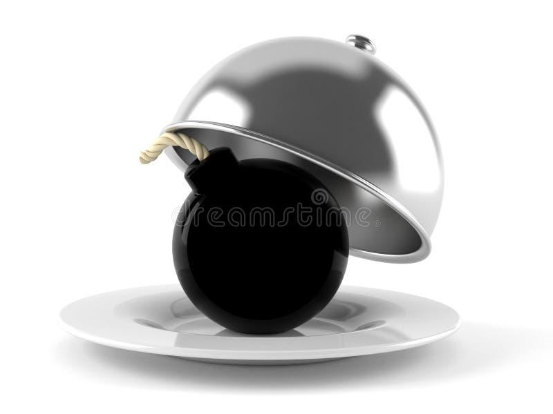Cupola di approvvigionamento con la bomba royalty illustrazione gratis