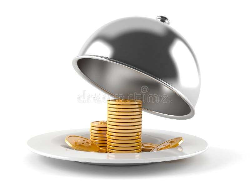 Cupola di approvvigionamento con le monete illustrazione vettoriale