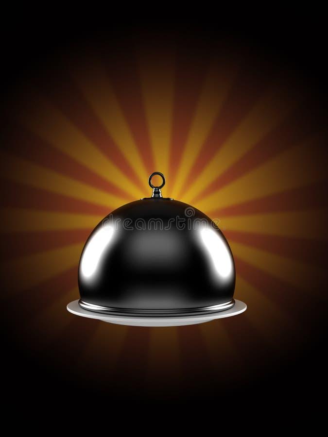 Cupola di approvvigionamento sul fondo dei raggi illustrazione vettoriale