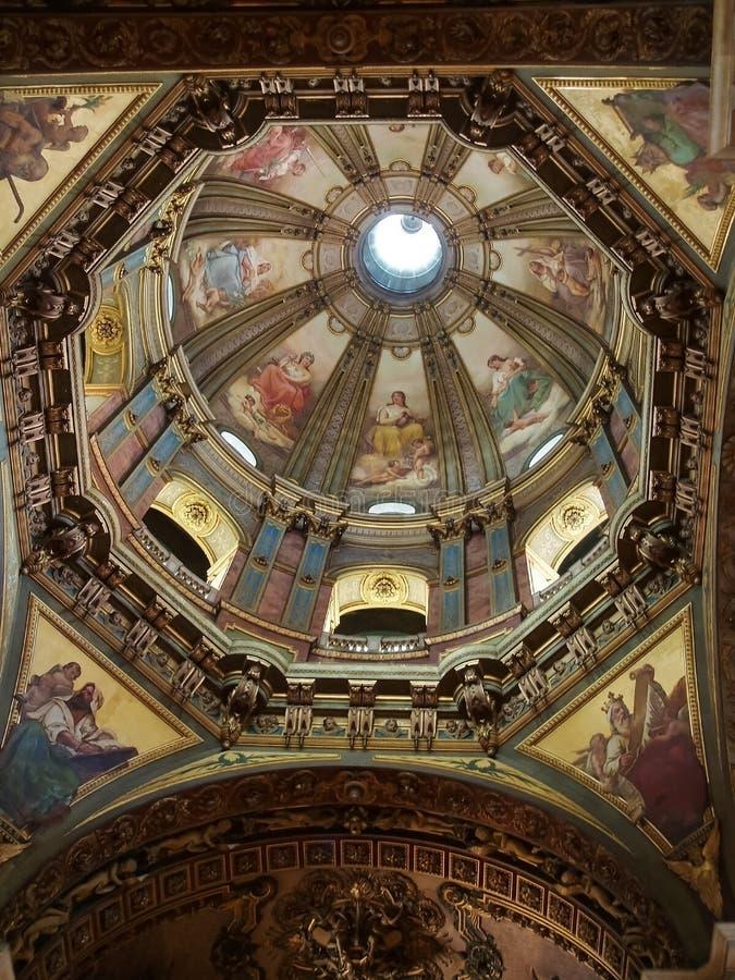 Cupola di Candelaria Church in Rio de Janeiro fotografie stock libere da diritti