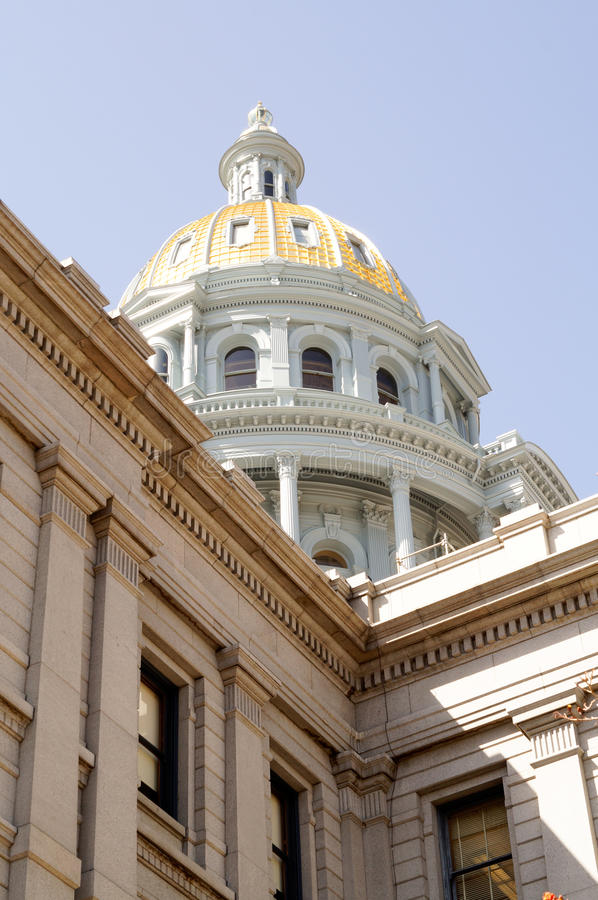 Cupola di Denver Colorado Capital Building Gold fotografie stock libere da diritti