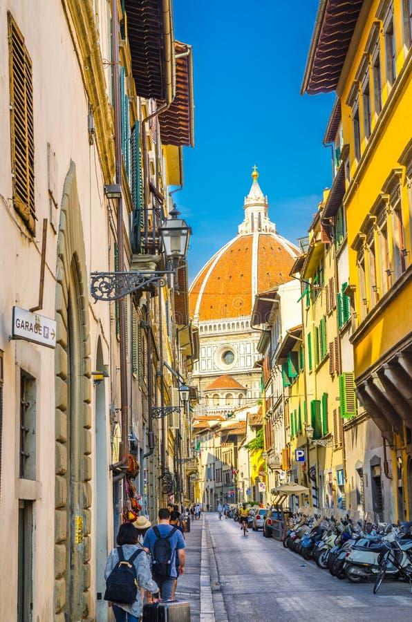 Cupola di Florence Duomo, Di Santa Maria del Fiore, basilica di Cattedrale di St Mary della cattedrale del fiore immagini stock libere da diritti
