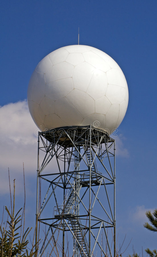 Cupola di radar - largamente immagini stock
