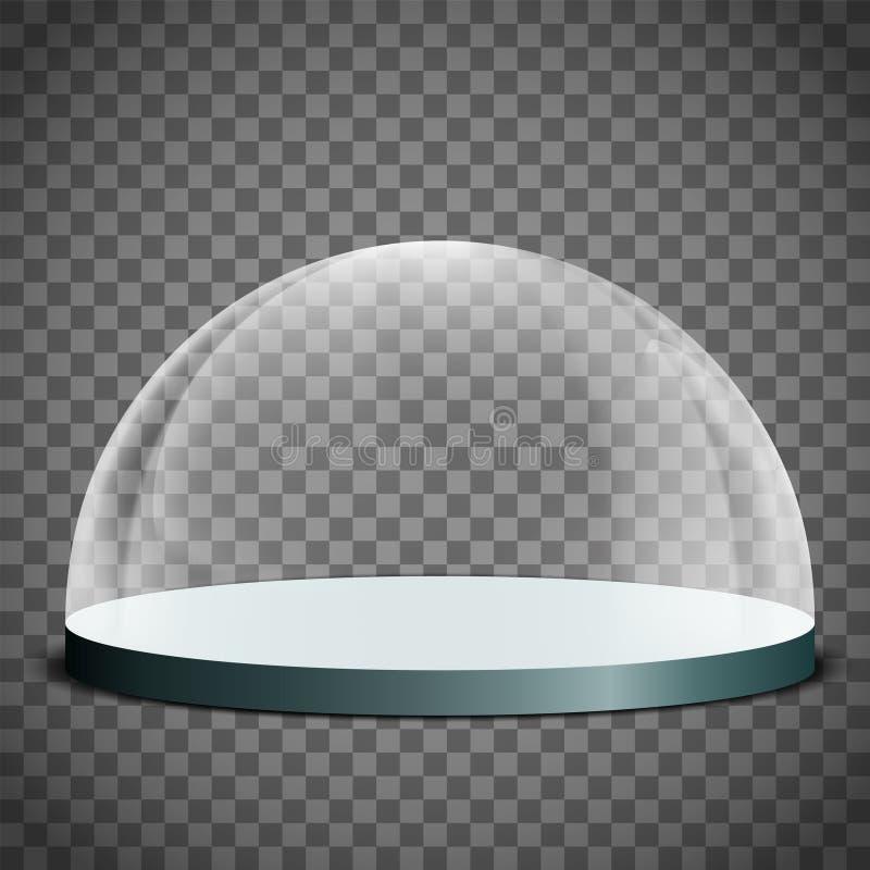 Cupola di vetro in bianco royalty illustrazione gratis