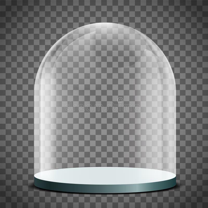 Cupola di vetro in bianco su un fondo trasparente royalty illustrazione gratis