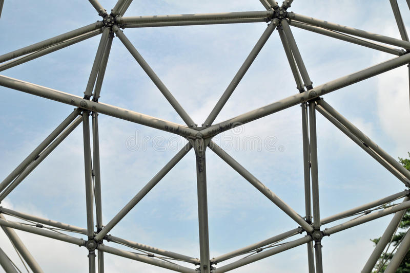 Cupola geodetica fotografia stock