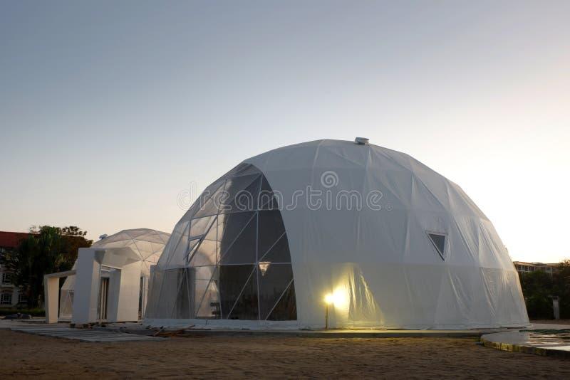 Cupola geodetica in Asia fotografie stock libere da diritti