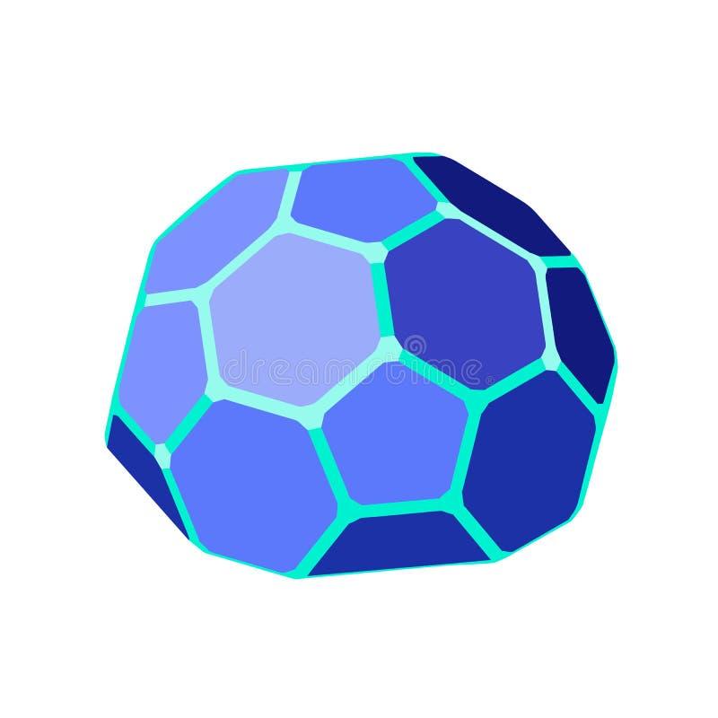 Cupola geodetica esagonale Illustrazione isometrica illustrazione di stock