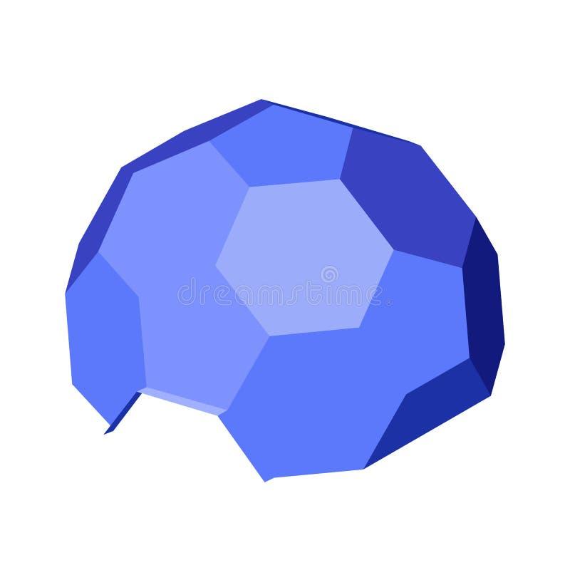 Cupola geodetica esagonale Illustrazione isometrica royalty illustrazione gratis