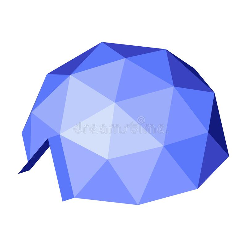 Cupola geodetica Illustrazione isometrica royalty illustrazione gratis