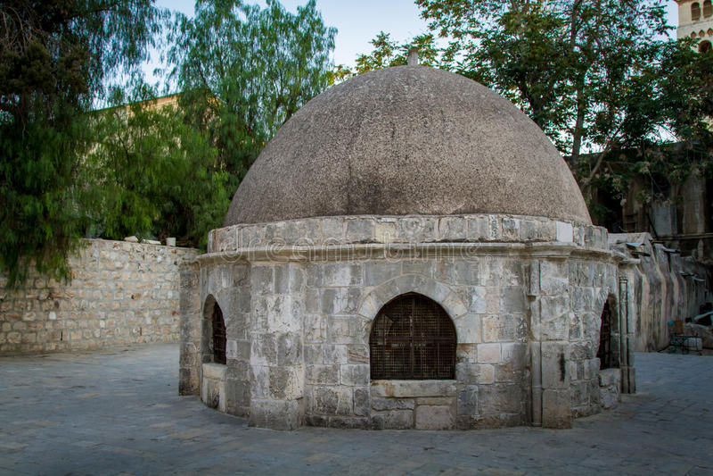 Cupola kaplica St Helena, kościół Święty Sepulchre, Jerozolima zdjęcie stock